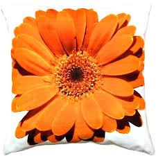 orange accent pillows. Orange Accent Pillows Bold Daisy Flower Throw Pillow Outdoor E
