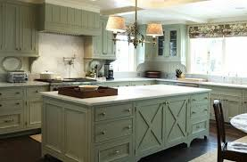 Rustic Painted Green Kitchen Cabinets with Light Counter Tops : Painted  Green Kitchen Cabinets with Light Counter Tops  My Home Design Journey