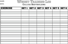 9 Best Photos Of Blank Weight Lifting Charts Printable