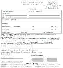 Simple Service Contract Sample Service Agreement Template