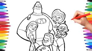 So in the meantime i'm excited to be able to. Incredibles 2 Coloring Pages Coloring Mr Incredible Elastigirl Violet Flash Jack The Incredibles Youtube