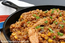 chicken and rice dinner recipes. Wonderful Recipes Barbecue Chicken And Rice One Dish Dinner  Recipe On  PocketChangeGourmetcom Inside And Rice Recipes I