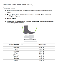 Standard Size Chart For Shoes Shoe Sizes And Measuring Guide Shoe Artistry