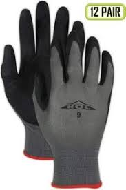 Magid Glove Safety Magid Roc Nitrix Grip Palm Coated Gloves