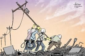 Storm Restoring Power by Political Cartoonist Rob Tornoe via Relatably.com