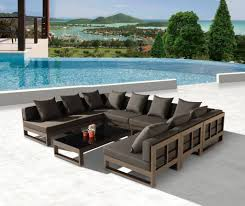 modern outdoor sectional. Amber Modern Outdoor Shape Large Sectional Sofa For Gallery With U Shaped Inspirations T