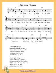 The easy version of silent night for piano splits the melody between the right and left hands. Silent Night Piano Lesson On Videos Lyrics Free Sheet Music For Piano