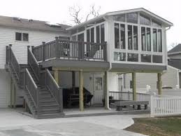 two story decks with srs nice two story sunroom on deck with srs 1302 14th