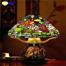 leaded glass lamp shade stain glass lamps glass art table lamps style lotus stained glass lamp hand made led bedside stain glass lamps craftsman mission
