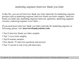 Thank You Letter After Interview For Marketing Position