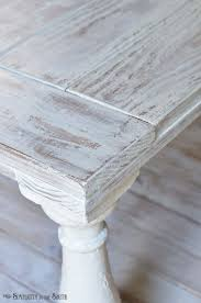 diy tutorial antiquing wood. distressed coffee table painted with mms milk paint in grain sack and a wet diy tutorial antiquing wood