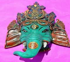 Decorative Face Masks Ganesha Decorative Wall Hanging Masks Lucky God Ganesh Elephant 67