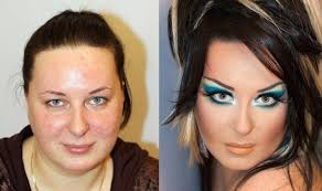 Znalezione obrazy dla zapytania jak makijaż zmienia twarz