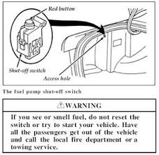 2001 ford windstar fuel pump vehiclepad 1997 ford windstar 2001 fuel pump shutoff switch wear is it located fixya