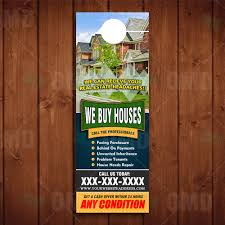 door hanger design real estate. Refreshing Door Houses We Buy Hanger Real Estate Lead Generator Design S