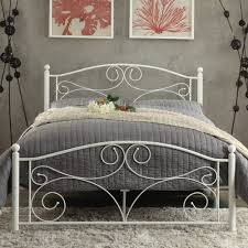 white metal platform bed. Plain Bed Weston Home Pallina Metal Platform Bed  White With D