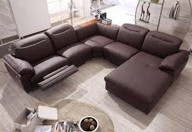 image of contemporary sectional sofa with recliner