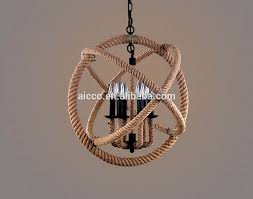 american country style loft retro ball shade hemp rope chandeliers industrial pendant lamplight american country style loft