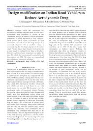 Road Vehicle Aerodynamic Design Rh Barnard Pdf Design Modification On Indian Road Vehicles To Reduce