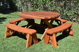 furniture best round wooden picnic tables commercial picnic tables red cedar picnic tables outdoor picnic