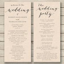 Fan Wedding Programs Templates Unique Luxury Wording Template Free