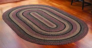 entranching oval jute rug in blackberry braided 6 x 9 ft allysons place