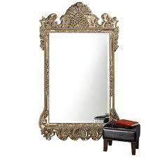 Marquette Antique Silver Rectangle Mirror