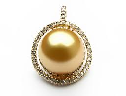 golden south sea pearl pendant south sea pearls