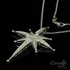 diamond set north star pendant necklace