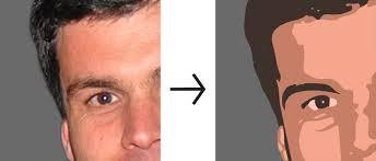 turn face into cartoon vector file