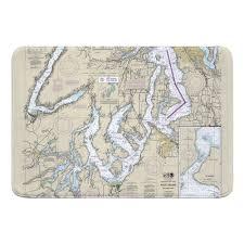 Wa Puget Sound Southern Wa Nautical Chart Memory