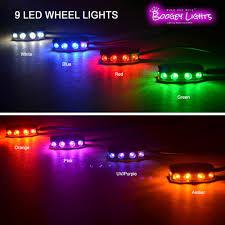 Orange Wheel Lights 9 Led Wheel Lights
