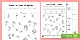 What Is A Pictograph Chart Flowers Tally And Pictogram Worksheets Pictogram Tally
