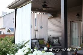 diy patio screen curtains left handsintl co intended for outdoor prepare 3