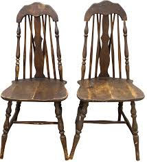 Antique Splat Tapered Back Windsor Chairs A Pair Chairish