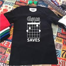 Jesus Saves Guitar Shirt Gsus Chord Guitar Shirt Guitar Player Gift Guitarist Shirts Funny Guitar Shirt Guitar Tees Music Tees