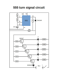 turn signal using 555 timer 3 steps picture of 555 timer circuit diagram png