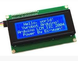 IIC/I2C/TWI Serial LCD 2004 20x4 Display Shield Blue Backlight For ...