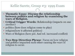 kellie sarete group exam thematic essay discuss the  kellie sarete group 3 1999 exam thematic essay discuss the relationship between