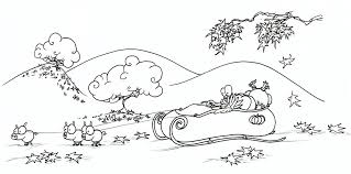 Small Picture coloring page a turkey in a sleigh on Thanksgiving afternoon