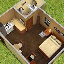 Studio type apartment, full