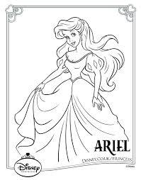 Disney Princess Colouring Pages 18 お絵かき 塗り絵ぬりえ文房具