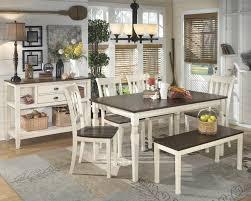 antique white dining room sets. Whitesburg Table, 4 Side Chairs \u0026 Bench Antique White Dining Room Sets G