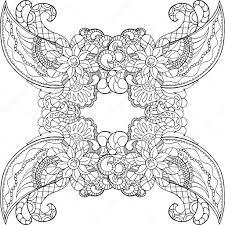 Kleurplaat Met Doodle Sieraad Volwassen Kleurplaat Stockvector