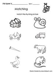 Small Picture Free Rhyming Worksheets For Kindergarten free worksheets free