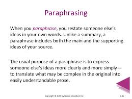 chapter essay essentials paraphrasing