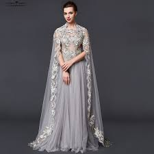 Online Get Cheap Silver Evening Gowns Dresses Aliexpress Com