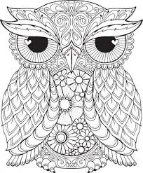 Small Picture Free difficult coloring picture of an Owl to print for adults