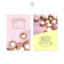 Sweet Bakery Menu Template Vector Free Download Templates