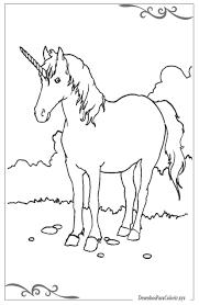 1 Hoorn Kleurplaat Unicorn Coloring Pages Free For Kids